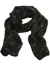 d7eca461c7fc3d Damen Schal mit Anker Muster in Schwarz Sommerschal Halstuch Seiden Tuch  von Geralin Gioielli