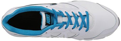 Nike Downshifter 6 Lea, Scarpe sportive, Uomo White/Black-Blue Lagoon-White