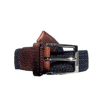 Damengürtel Stretchgürtel Damen elastik gürtel elastisch dehnbar schwarz blau braun rot (110 cm, marineblau)