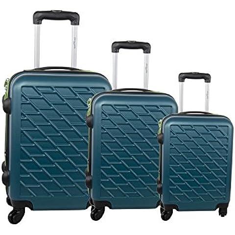 Set valigie trolley 3 pezzi rigido PIERRE