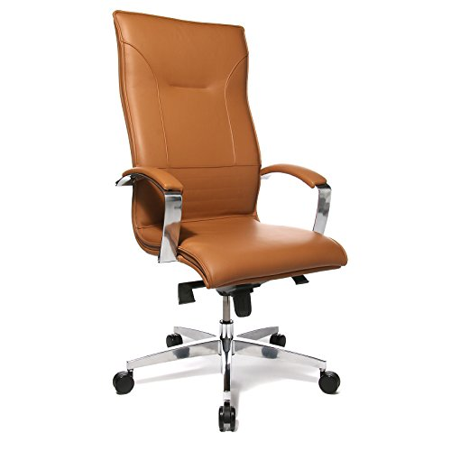 Profi-Chefsessel LEAN ON - Leder hochwertig verarbeitet - cognac - Bürodrehstuhl Chefstuhl Chefstühle Drehstuhl Lederstuhl Lederstühle