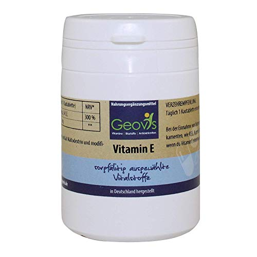 Natürliche Tocopherole (Geovis | Vitamin E Komplex | 90 Tabletten mit Tocopherole & Tocotrienole | Antioxidans: schützt Zellen vor oxidativen Stress | Vegan | Nahrungsergänzung)