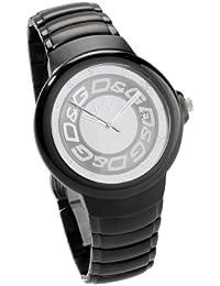 Dolce Gabbana - DW0249 - Montre Mixte - Quartz Analogique - Dateur - Bracelet Acier Noir