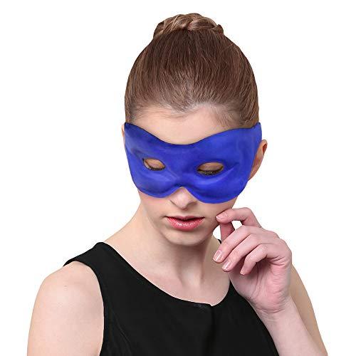 Augenmaske Kühlakku Gel Kühlpads Schlafen mit Hot Cold Therapien wiederverwendbar und schnelle Relif - Ideal für Kopfschmerzen, Migräne, Entspannung, geschwollene Augen - Cooling Eye Mask