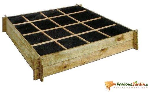 Carré de potager en bois traité Cardon 120