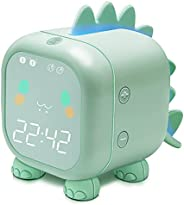 Kids Alarm Clock with Dinosaur, Digital Alarm Clock for Kids Bedroom, Cute Bedside Clock Children's Sleep