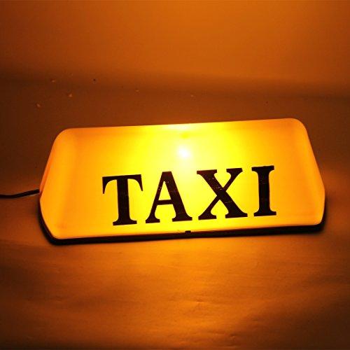 Lumière de qualité fine, TAXI Lumineux Panneau Supérieur Toit Voyant Voyant Lampe Cab Jaune 12V ,GISION
