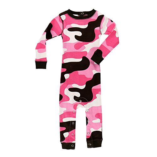 Lazy One Girls Camo Deer All-in-One Flapjack Infant