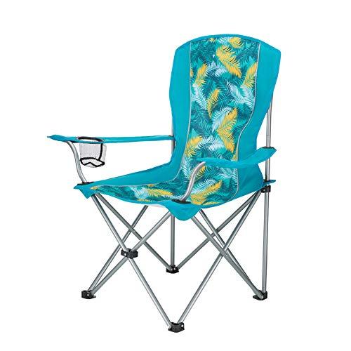 ASDFGH Portable Ultraleichter Outdoor Stuhl faltbar, Camping klappstuhl mit getränkehalter Kompakt Rucksack-strandkörbe, Mit tragebag-grünA
