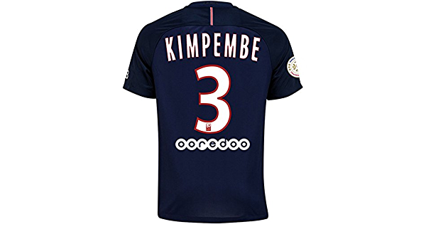 Paris Saint Germain FC 2016 2017 3 Presnel Kimpembe Home Football ...