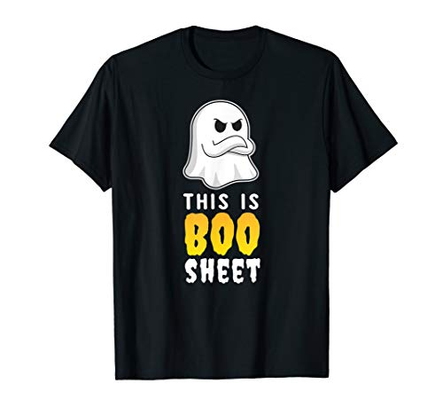 This Is Boo Sheet Shirt Funny Geist Gruslig Party Idee - School Spirit Kostüm