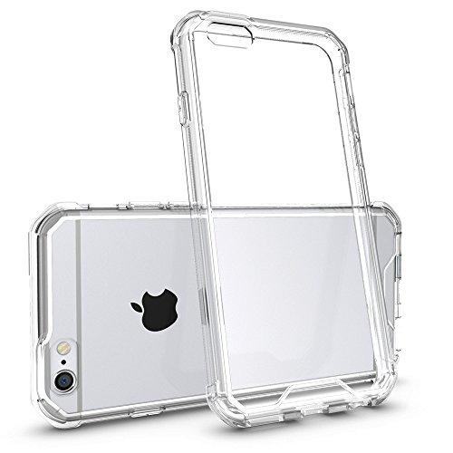 Galleria fotografica Cover iPhone 6s/6, Yokase Custodia iPhone 6 [Vetro Temperato Protezione Schermo Completa] Antigraffio Antiscivolo Morbida Rigida Case Custodia iPhone 6s Trasparente per iPhone 6/6s - 4.7- Trasparenti