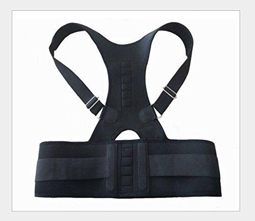 yeah67886atmungsaktiv magnetisch haltungskorrekturbandage Bad Lendenwirbelstütze Schulter Gürtel Korsett (schwarz)