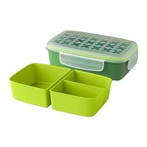 ikea festm ltid lunchbox gr n l nge 22 cm breite 14 cm. Black Bedroom Furniture Sets. Home Design Ideas