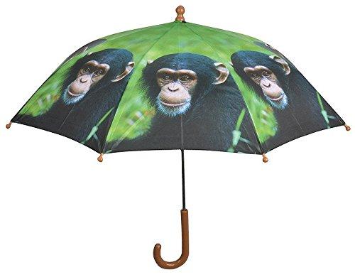 Bunter Kinderschirm Regenschirm Affen -Motiv