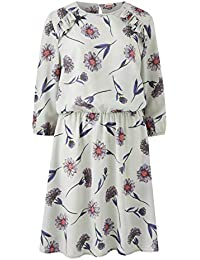 d494edd59692 Simply Be Womens Multi Floral Print Frill Detail Dress