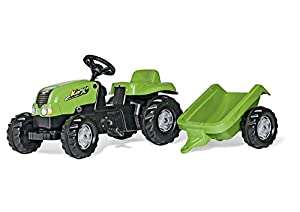 Rolly Toys Schneider 01 216 9 - Tractor de pedales con remolque rollyKid (142 cm) importado de Alemania