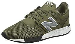 New Balance Herren 247v1 Sneaker, Grün (Triumph Green/Silver Op), 44 EU