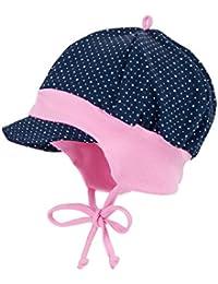 maximo Baby-Mädchen Mütze Schildmütze Punkte mit Bindeband, Jerseyeinsatz