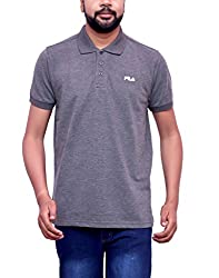 FILA GREY COTTON POLO T-SHIRTS (Medium)