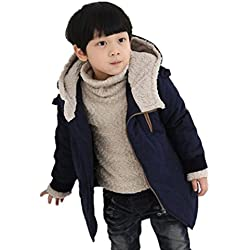 Ropa Bebé Abrigo niño Otoño Invierno Ropa de Invierno Chaqueta Caliente 4 Años - 9 Años (Tamaño:7-8 Años, Marina)