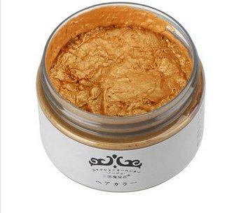 Bluelover 4 Farben Unisex Diy Haarfarbe Wachs Schlamm Einweg Temporäre Modellierung Farbstoff Creme-Gold