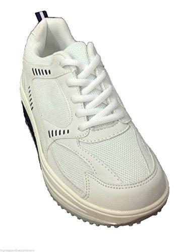 Chaussures de sport pour raffermir les fesses, maigrir Fitness BLANC ET BLEU