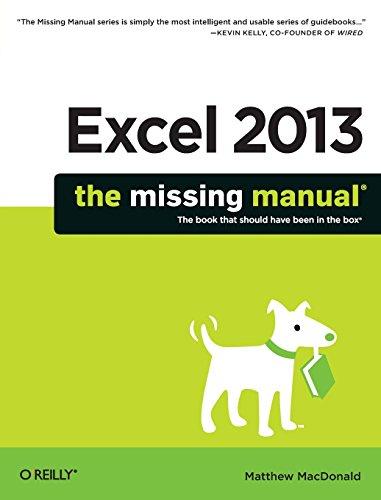 Preisvergleich Produktbild Excel 2013: The Missing Manual