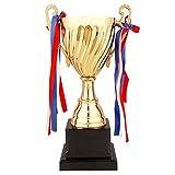 Trofei Trofeo d'oro di Fascia Alta Campione del Trofeo Decorazione del Salotto Giochi di Badminton di Pallacanestro di Calcio (Color : Gold, Size : 37.5 * 14cm)