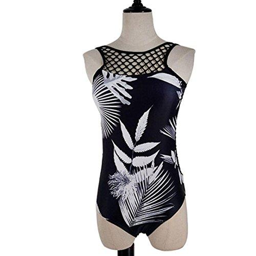 Tpulling Maillot de Bain Femme 2 Pieces ❤️ Femmes Bikini Push-Up Rembourré Soutien-Gorge Maillot de Bains Black