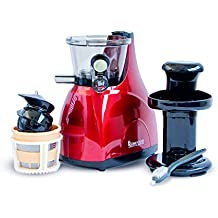 Astan Hogar Slow Juicer Licuadora Extractor, Rojo
