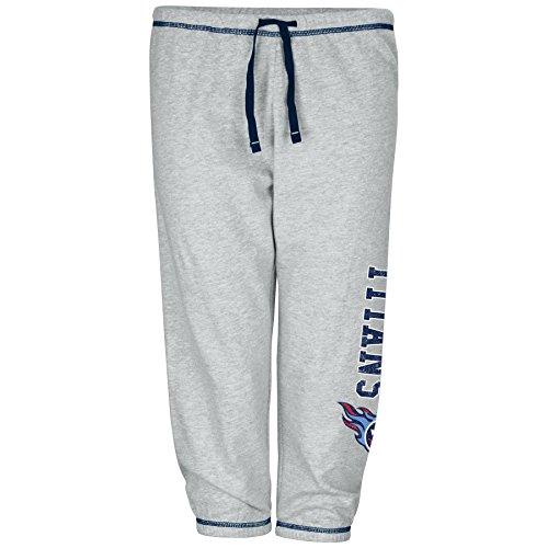 NFL Frauen LT Gewicht Fleece Hose W/absteppen garantiert Rand Außen DS W/m Logo Daunen Bein, Damen, HERN7XRAM, grau meliert, 2X -