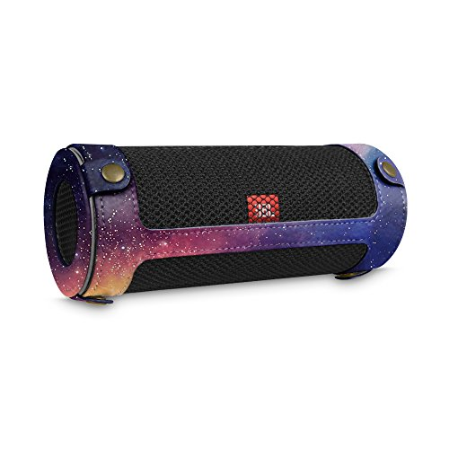 Fintie JBL Flip 4 Tragbare Lautsprecher Hülle Abdeckung - Hochwertiges Kunstleder Schutzhülle Tasche Case mit Karabinerhaken für JBL Flip4 Tragbare Lautsprecher, Die Galaxie