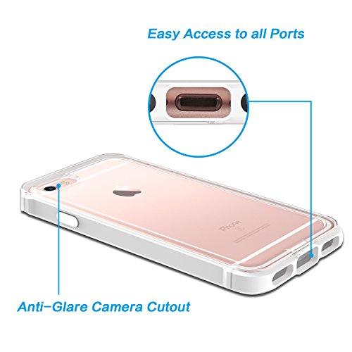 OMOTON Schutzhülle für iPhone 6s / iPhone 6, [PC and Soft TPU], Anti-Kratz, bombenfest,space grau white