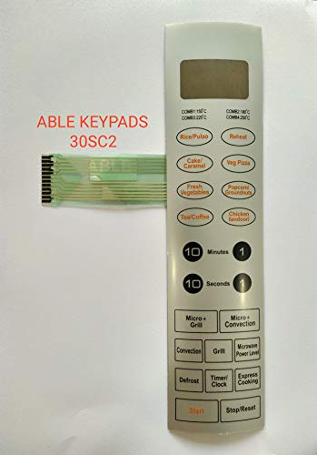 ABLE 30SC2 Microwave Oven Membrane Keypad (Silver)