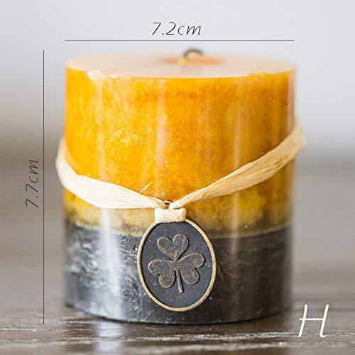Aromatherapie KerzenKerzenlicht Abendessen Hochzeit Kerzen Säulen Gelbes Sandelholz -