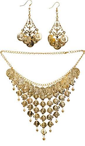 NEU Orient-Set, Kette mit Ohrringen, Gold