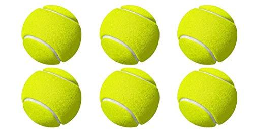 M ART Tennis Ball Light Weight Green Color,(Pack of 6)