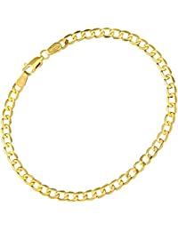 Citerna Women's 9ct Yellow Gold Curb Chain Necklace - 1.8mm width