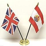 United Kingdom & Polinesia francese dell'amicizia, a doppio fondo da tavolo-Set di bandierine