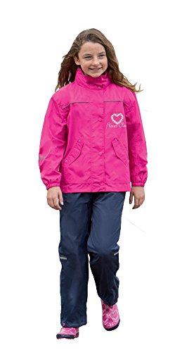 Kinder Regenanzug Regenjacke Regenhose für Mädchen und Jungen (152 / 11-12 Jahre, Pink/Blau)
