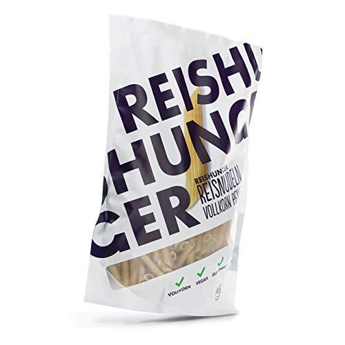 Reishunger Bio Reisnudeln Penne (3 x 350 g) Pasta aus Vollkorn Reis – erhältlich als 1er, 3er und 8er Pack