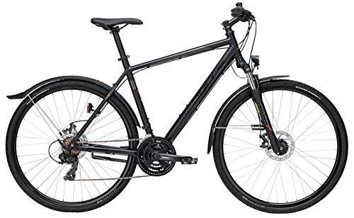Herren Fahrrad 28 Zoll - Bulls Wildcross Street - Shimano 21-Gang Kettenschaltung, Suntour Federgabel, Nabendynamo, schwarz matt/orange