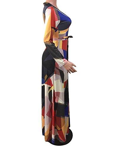 Damen Sommerkleider Maxikleid Strandkleid Boho Lang Kleider Elegant Kleid Schwarz