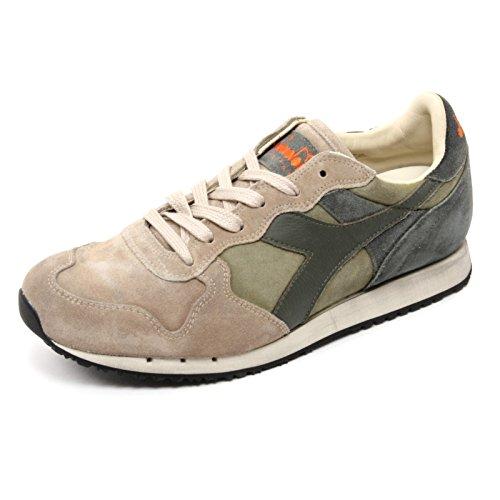 5c8631077dd11 B6776 sneaker uomo DIADORA HERITAGE TRIDENT S SW beige verde grigio shoe  man
