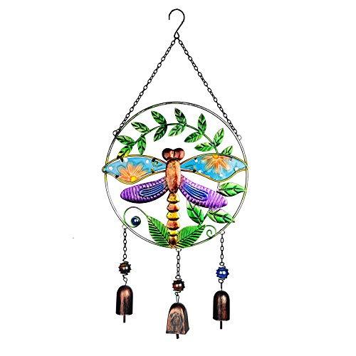 * 10,7 Zoll Dragonfly Vintage Windspiel Sun Catcher Handgefertigte Garten Im Freien Wind Bell Haus & Garten Wandaufhängung Auto Dekor ()