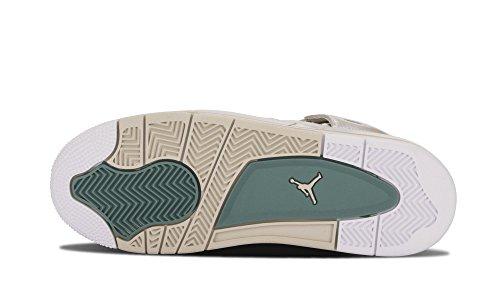Nike Air Jordan 4 Retro Pearl Gg, Chaussures de Running Entrainement Femme Blanc Cassé - Blanco (Light Bone / Light Bone-Cannon)