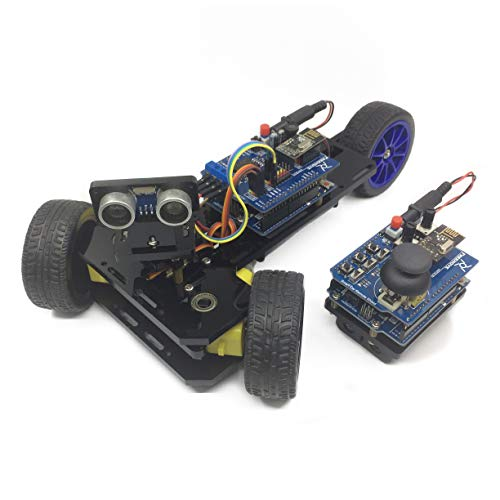 Freenove Three-Wheeled Smart Car Kit, Compatible with Arduino, 3 Modes, Remote Control, Steam STEM Robot Project