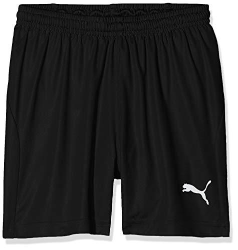 PUMA Kinder Liga Shorts Core w Brief Jr Hose, Black White, 176