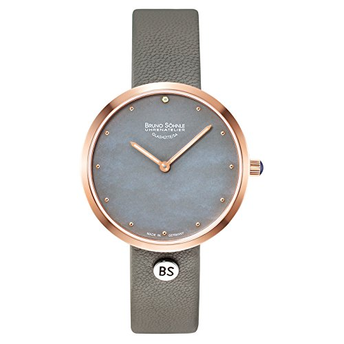 Bruno Söhnle Damen Analog Quarz Uhr mit Leder Armband 17-63171-851